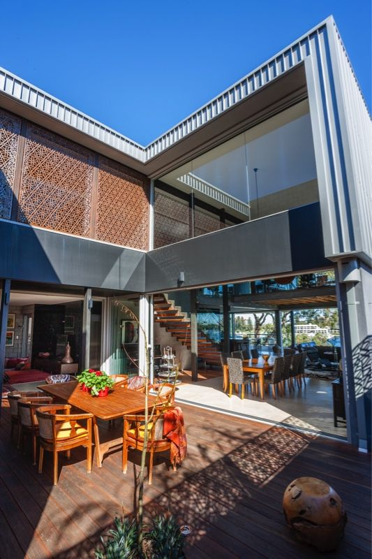 Beautiful outdoor area - Modern two story townhouse in Perth built by Indian Ocean Building Company